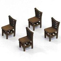 4Ground 28mm Furniture: Light Wood Ladder Back Chair (A)