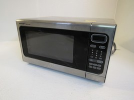 Sharp Countertop Turntable Microwave Oven U3 Stainless/Black 1.4 CuFt R4... - $69.93