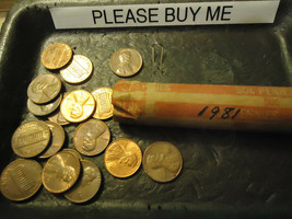 1981 Lincoln Cent Roll **Circs** >> C/S & H - $1.98