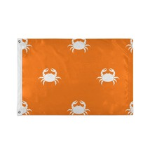 Party Decoration Flags Beach Creature Happy Blood Red Crab Custom Decor Flags - $24.99