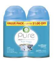Air Wick Pure Automatic Spray Refill, Fresh Waters, 2 Pack - $14.95