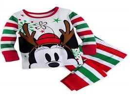 Disney Mini Mouse Holiday PJ Pal Set Baby Sizes 0-12 M NWT - $19.49