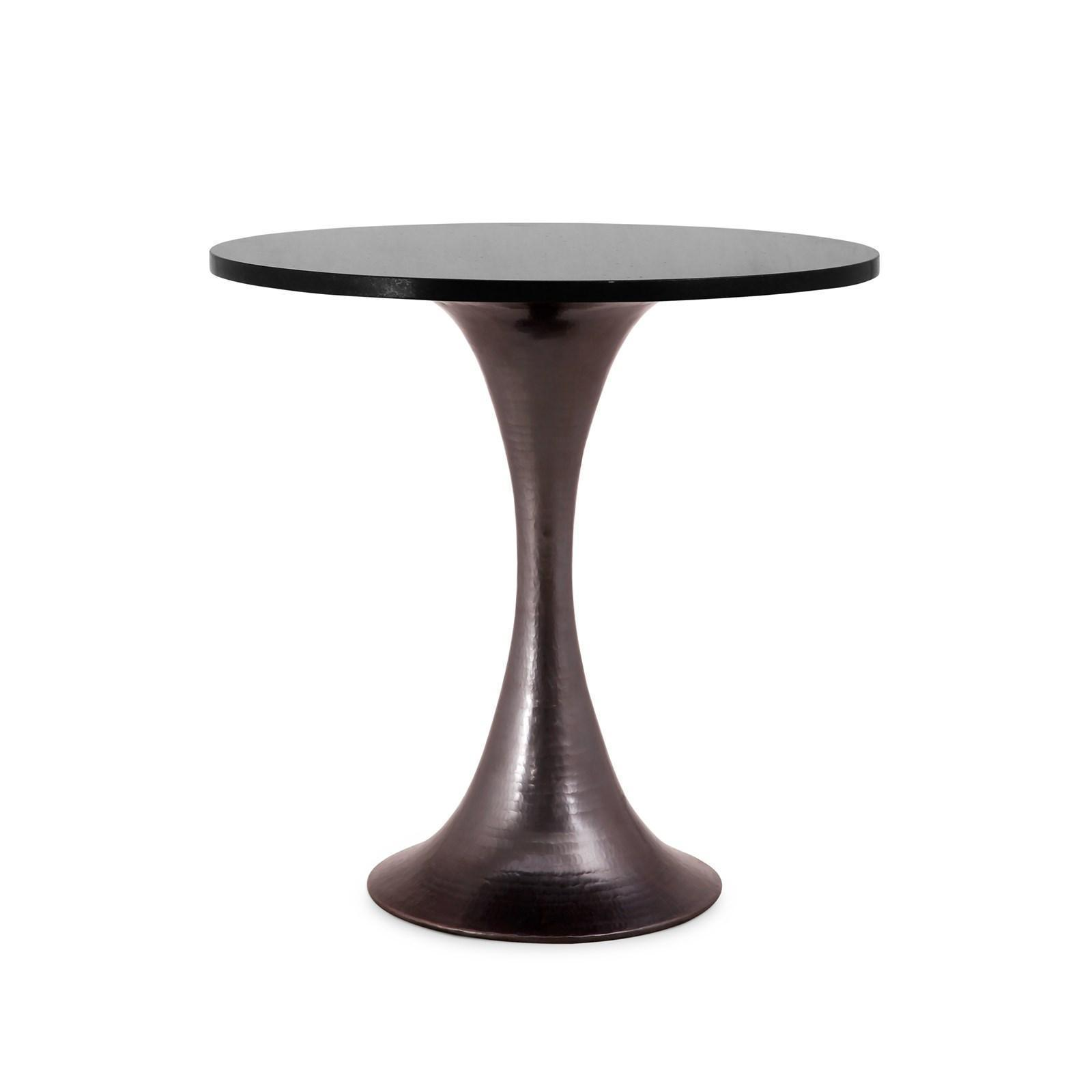 """Bungalow 5 STOCKHOLM 20"""" GALAXY Black Granite Top & Bronze Base Side Table for sale  USA"""