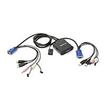 Iogear GCS72U 2-Port USB Cable KVM Switch with Audio and Mic - $40.36