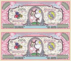 50 It's a Girl! Birth Announcement Keepsake Bills Lot - $11.87