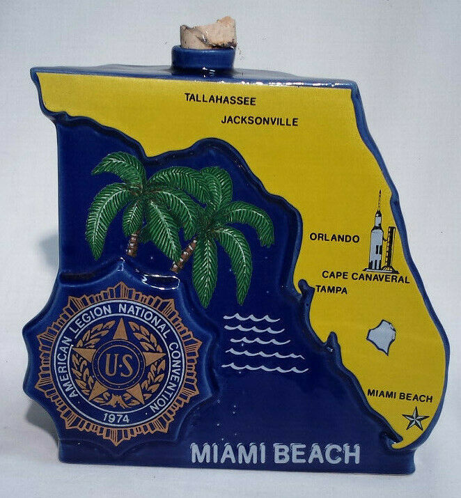 1974 Ezra Brooks Miami Beach American Legion 56th National Convention Decanter - $6.92