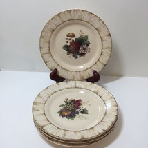 "4 Salad Plates 8.5"" Pamela Gladding Windsor Certified International Fruits - $19.34"