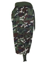 LR Scoop Men's Elastic Waist Drawstring Multi Pocket Cotton Cargo Shorts CJS-80 image 6