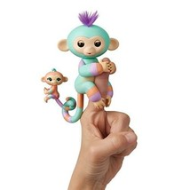 WowWee Fingerlings Baby Monkey Mini BFFs Danny and Gianna (Orange), Turq... - $17.89