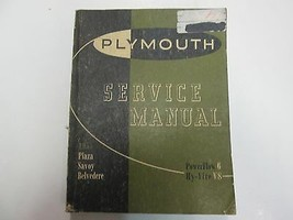 1955 Plymouth Plaza Savoy Belvedere PowerFlow 6 Hy-Fire V8 Service Shop Manual - $12.89