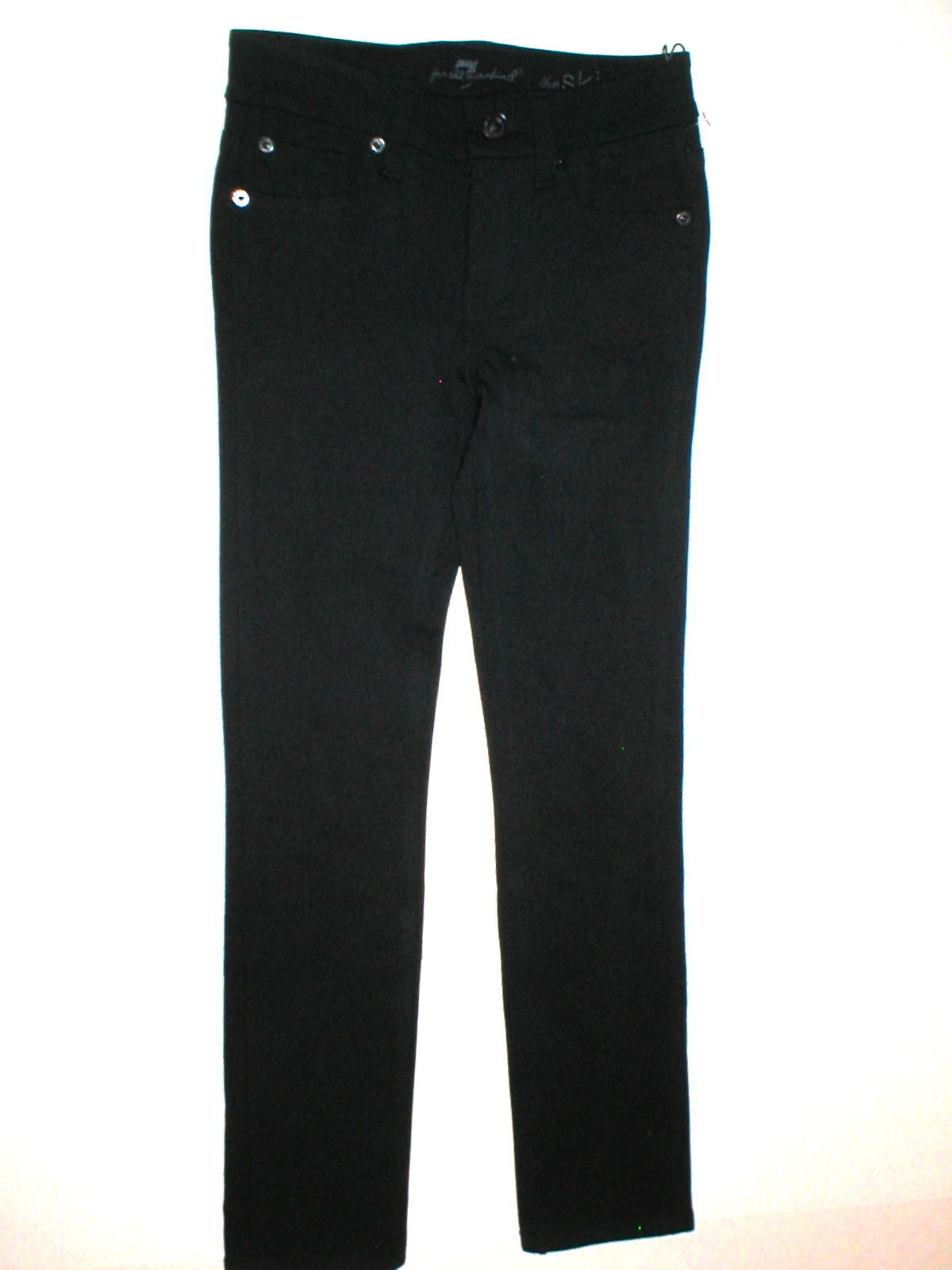 New Girls Jeans The Skinny 7 for all mankind 12 NWT Leggings Black Pants Rayon image 2