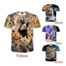 Small Asia Size women men Summer 3d t-shirt funny cat/animal print t-shirt for m