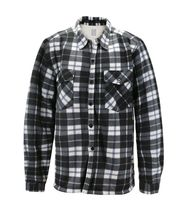 Men's Casual Flannel Button Up Plaid Fleece Warm Sherpa Lined Lightweight Jacket image 12