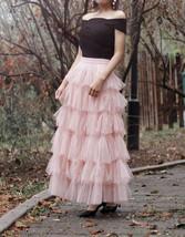 Women Black Tiered Tulle Skirt Full Long Black Tulle Layered Skirt Plus Size image 8