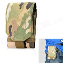 Stylish Water Resistant Fabric Cell Phone Case - Camouflage Green - $12.59