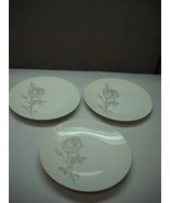 SET OF 3 Salad Plates ROSENTHAL China Classic Rose PATTERN Raymon LOEWY ... - $32.72