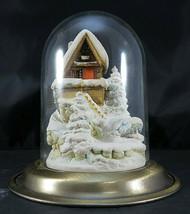 Goebel 1991 1st Edition Glass Dome WINTER FEST VILLAGE 989-D House in Snow - $175.00