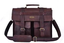 """New Men's Genuine Leather Bag Briefcase 15"""" Laptop bag Shoulder messenger  - $65.33"""
