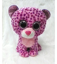 "16"" Ty Beanie Boo Glamour Leopard Cat Pink Purple Large Plush Big Eyes B350 - $29.99"