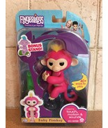 Fingerlings Interactive Baby Monkey Bella and  Bonus stand New 2017 Purple - $28.91