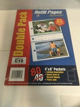 """Holson Refill Pages Double Pack 80 4"""" X 6"""" Pockets Refill C10 Fits All C... - $12.38"""