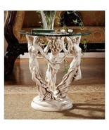 "The Three Graces Sculpture Glass Console Table 20"" - $296.01"