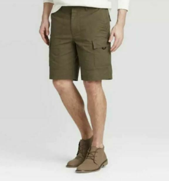 "Men's 9.5"" Utility Cargo Shorts Goodfellow & Co Paris Green Size 42 --store-new!"