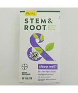 Stem & Root Proven Plant Power SLEEP WELL Melatonin 30 tabs 11/21  - $5.99