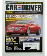 Car and Driver February 2007 Hot Rod Lincoln Manual M5 takes on Audi and... - $1.75