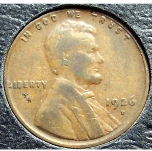 1926-D Lincoln Wheat Penny F #161