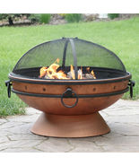 "30"" Fire Pit Steel with Copper Finish with Handles and Spark Screen - $350.00"