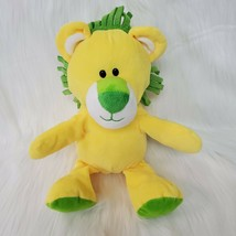 "12"" Animal Adventure Lion Bright Yellow Green Lovey Plush Stuffed Toy B224 - $19.97"