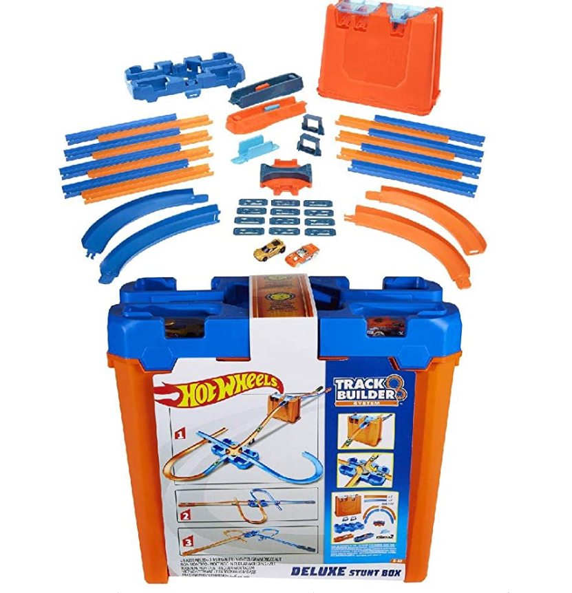 Primary image for Mega Hot Wheels Track Builder Stunt Box Gift Set Ages 6 to 12