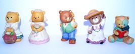 5 Home Interior HOMCO Sri Lanka Porcelain Bear Figurine Collectible Set ... - $11.27