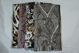 Anne Klein One Size 100% Silk Scarves Business Casual Scarf Multi Color ... - $24.42