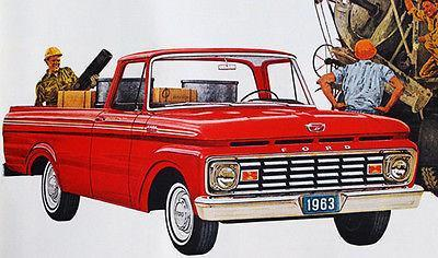 Primary image for 1963 Ford Pick Up - Promotional Advertising Poster