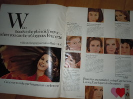 Loving Care by Clairol 2 Page Print Magazine Ad 1969   - $9.99