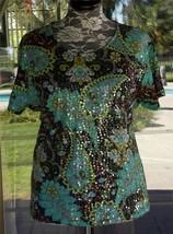 "Short Sleeve Uniform John Paul Richard Pailette Shirt Sz. 3X  52"" Bust - $14.84"