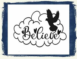 Believe (V2) Motivating Enthusiasm Inspirational Sign sp3174 - $8.86
