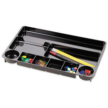 Universal Recycled Drawer Organizer, 9 Compartments, Plastic, 14 x 9 x 1... - $7.59