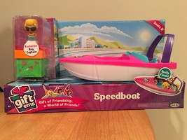 Gift'ems Speed boat Playset New Series 2 Seats 8 Exclusive Boy Captain - $19.24