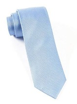 The Tie Bar 100% Woven Silk Light Blue Solid Textured 2 1/2 Inch Skinny Tie