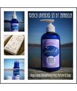 AROMATHERAPY LAVENDER GIFT SET - Organic Creme, Body Mist Spray, Perfume... - $53.87