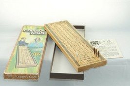 1960's VINTAGE Pacific Game Co. Cribbage Board Hollywood CA Solid Wood - $12.13