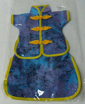 Doll clothes outfit Cheaongsam Qipao style blue purple yellow Mandarin C... - $9.00
