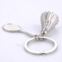 Keychain 3D Badminton Battledore  Silver - $5.99+