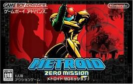 Rare! Neuf GBA Metroid Zéro Mission Game Boy Advance Nintendo Japon Grat... - $71.69
