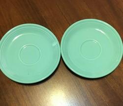 2 Fiesta Saucers in Meadow By Homer Laughlin - $5.93