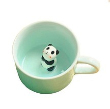 3D Coffee Mug Cute Animal Inside Cup Cartoon Ceramics Figurine Teacup Ch... - $11.82