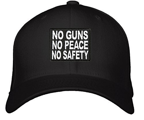 No Guns No Peace No Safety Hat - Adjustable Mens Black/White - Pro 2nd Amendment